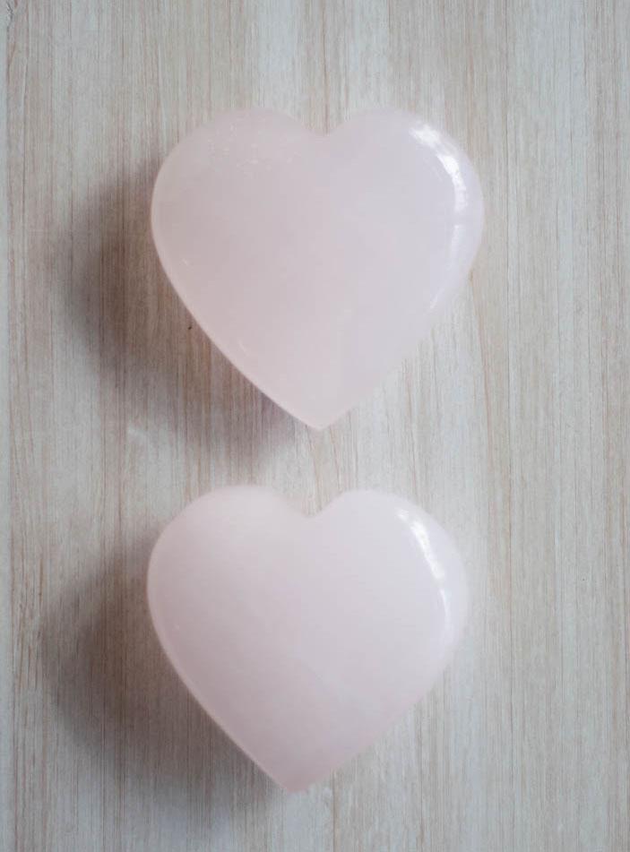 Large Mangano Calcite Heart - Pakistan