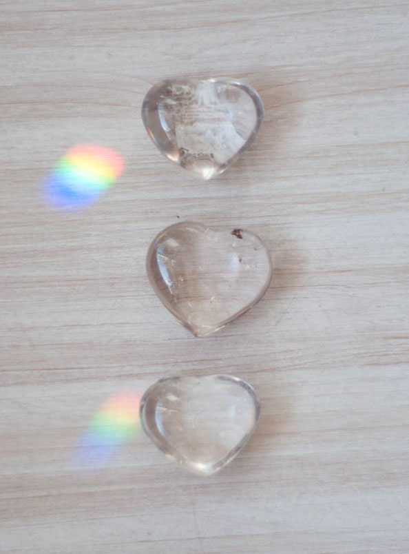 Clear Quartz Heart - tiny