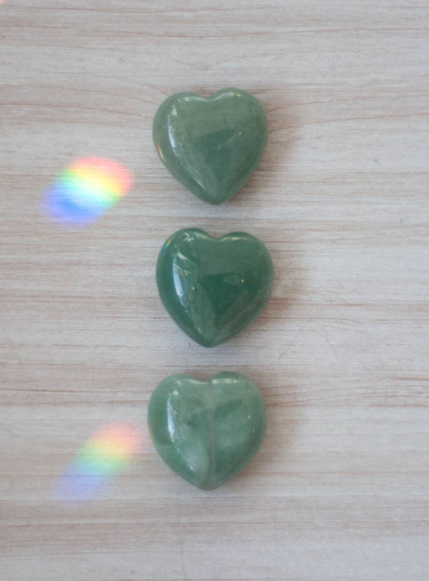 Green Aventurine Heart tiny