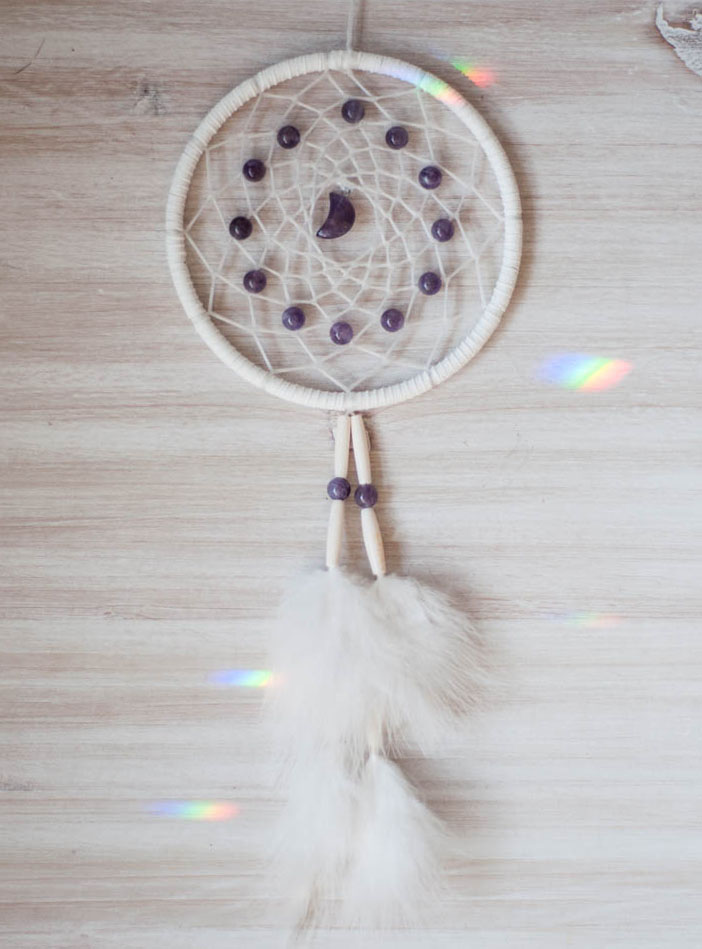 Amethyst Moon Dreamcatcher