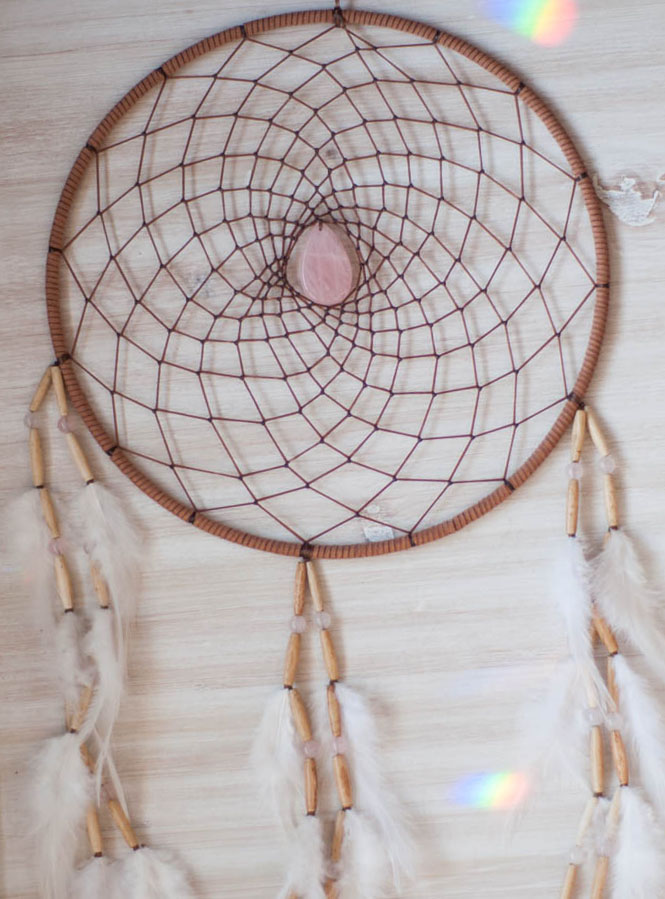 Rose Quartz Dreamcatcher - Love