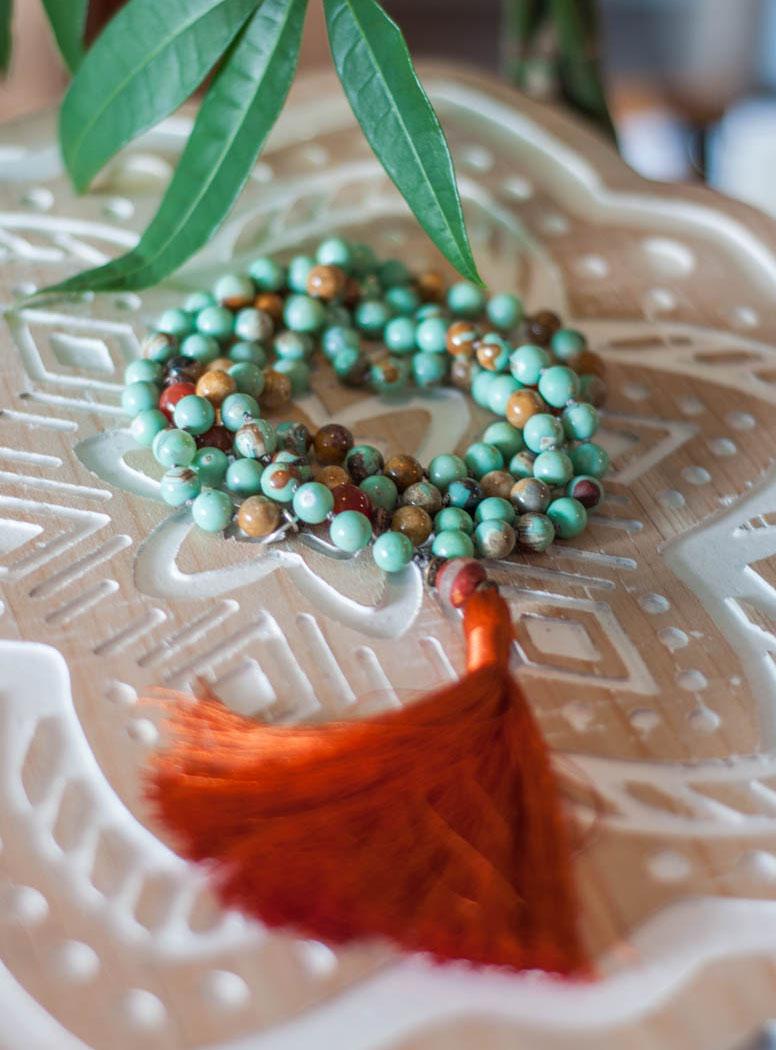 Chrysophrase 108 Mala Beads