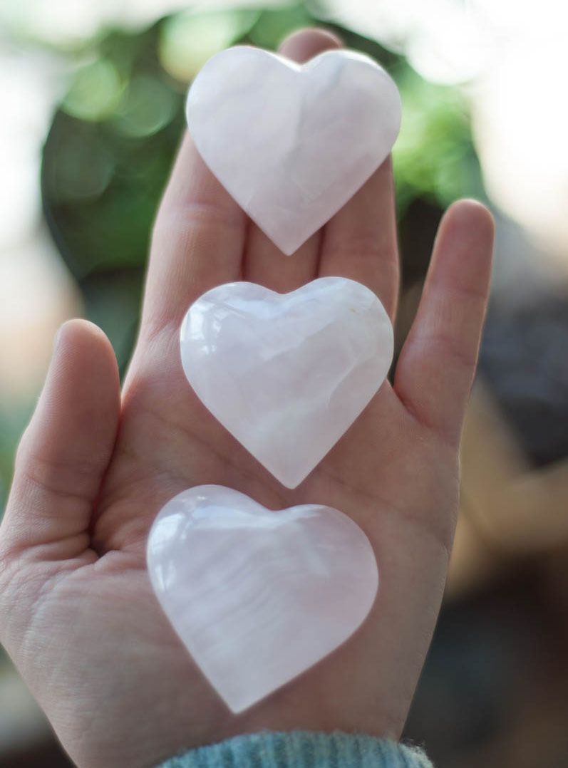 Small Mangano Calcite Heart - Pakistan