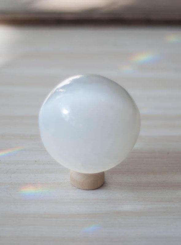 Selenite Sphere - Medium