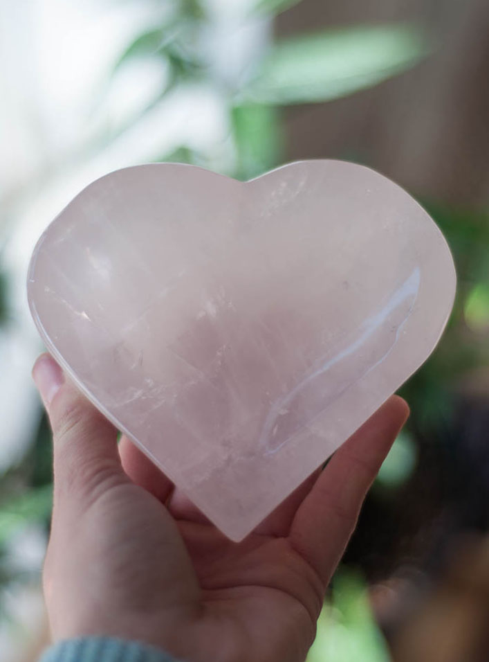 Rose Quartz Heart Bowl
