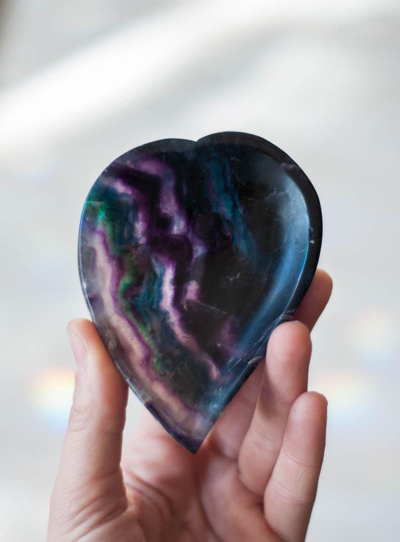 Fluorite Heart Bowl