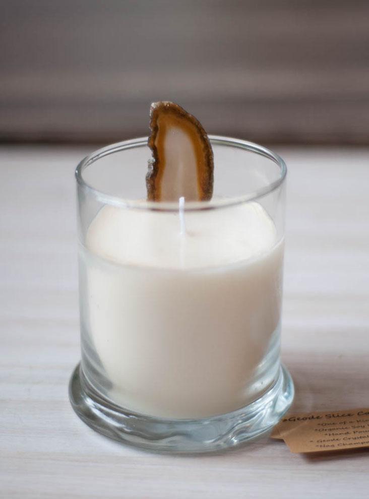 Agate Slice Candle medium
