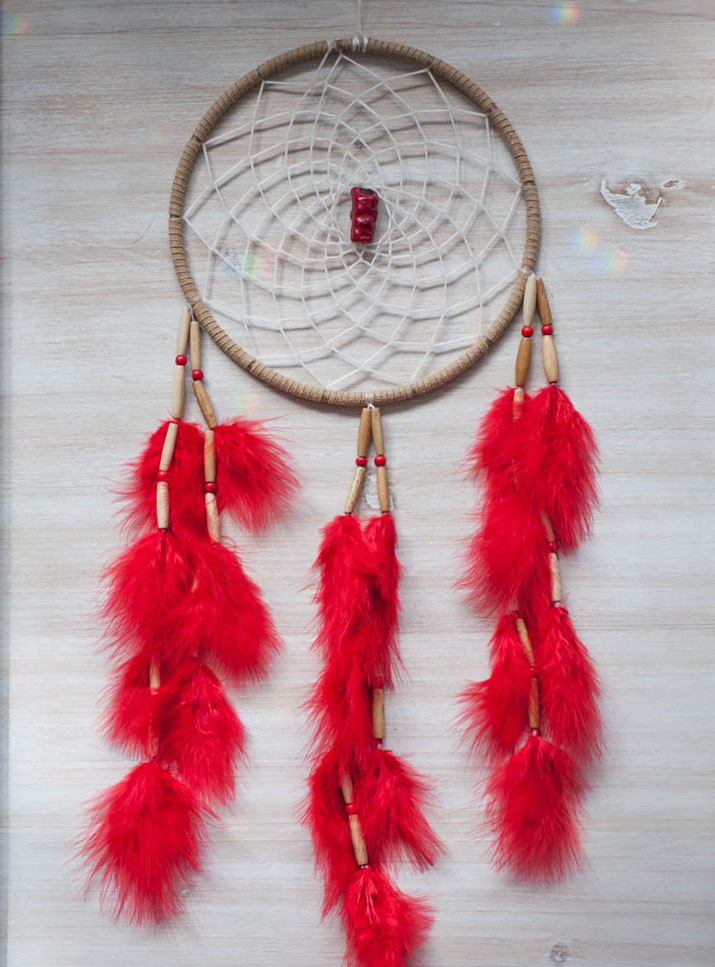 Red Coral Dreamcatcher #1 - Passion