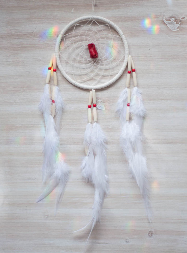 Red Coral Dreamcatcher #3 - passion