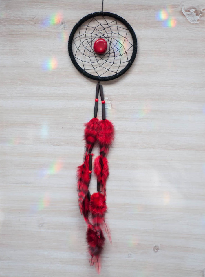 Red Coral Dreamcatcher #4 - passion