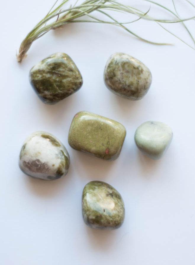 Tumbled Green Epidote