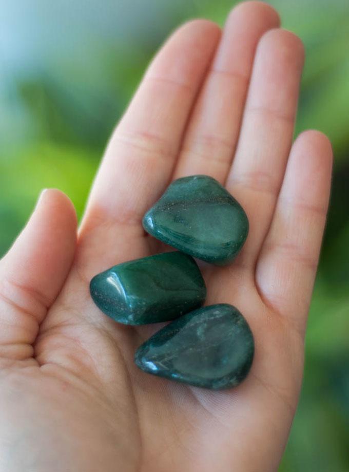 Tumbled Green Quartz