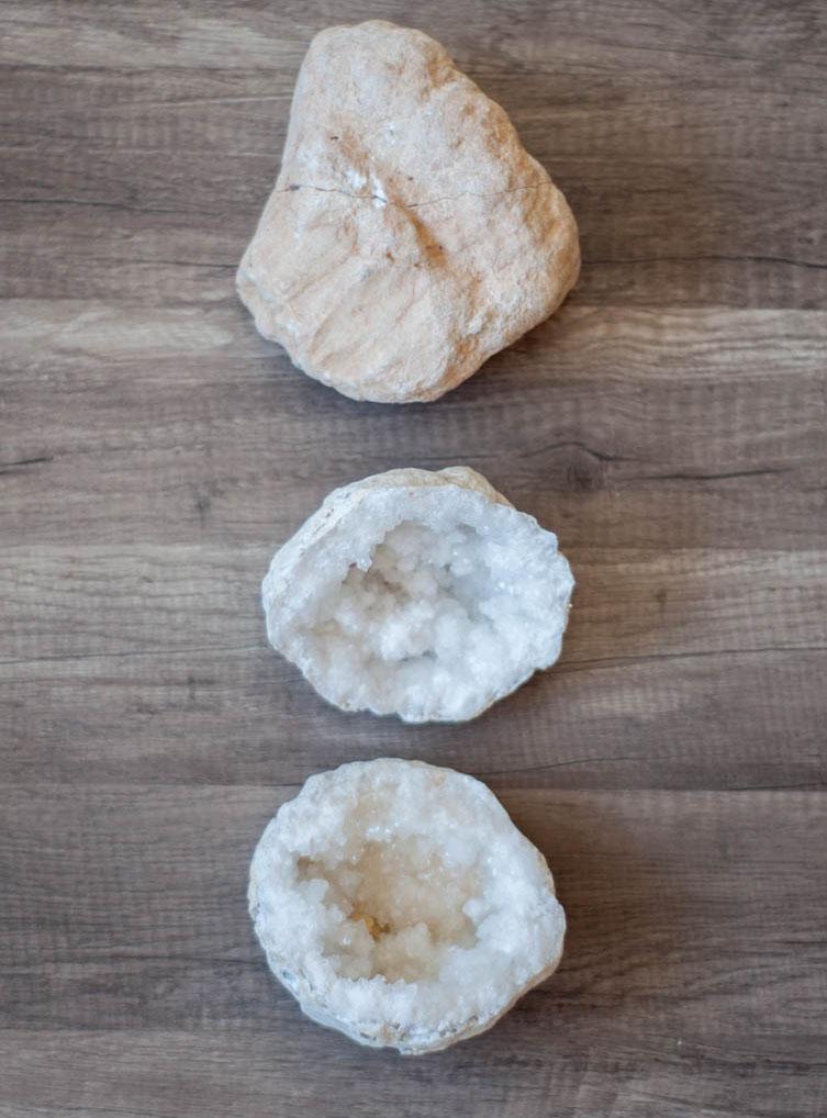 Clear Calcite Geode - precut