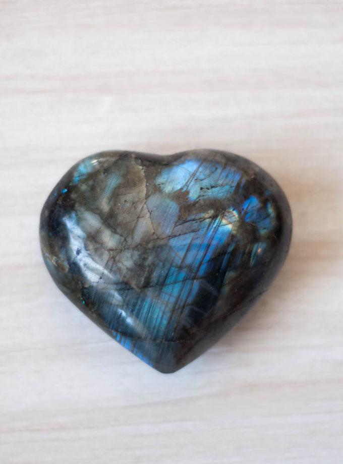 Labradorite Heart - large