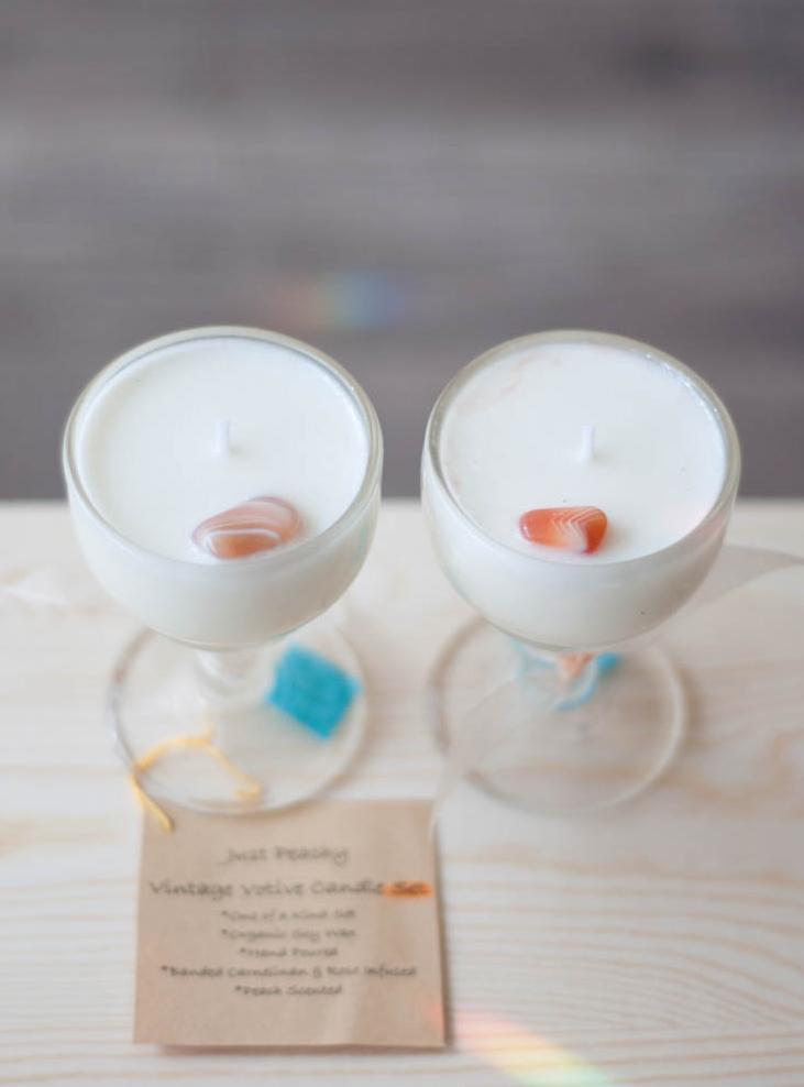 Just Peachy Votive Candles Set
