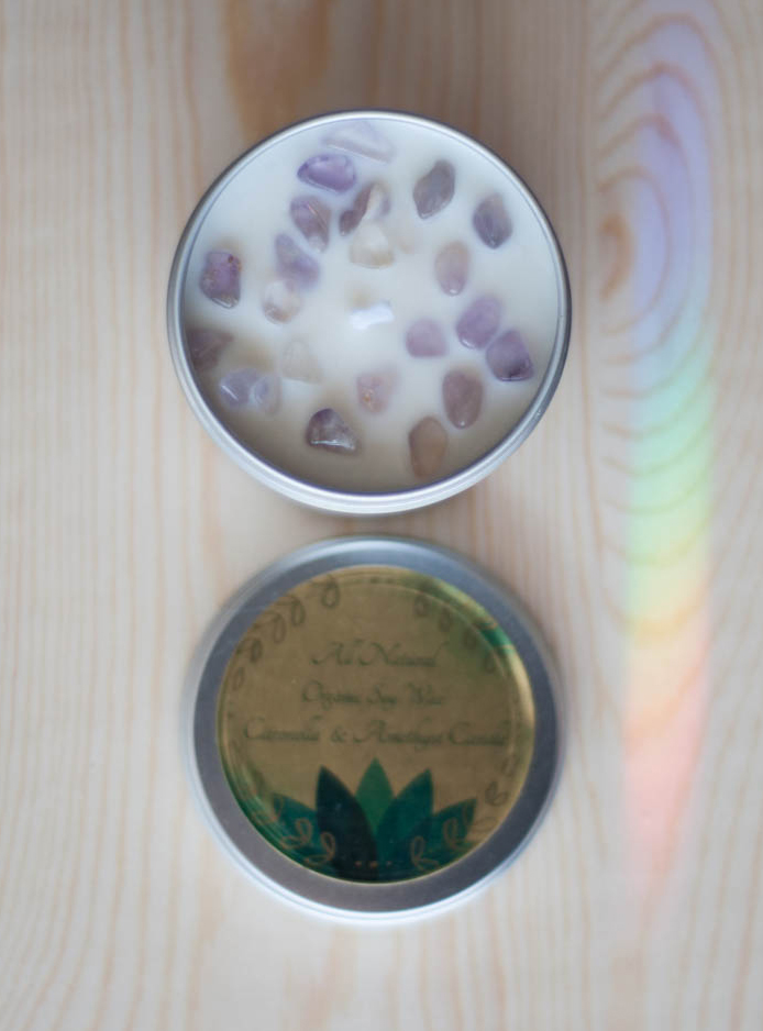 Citronella Amethyst Candle