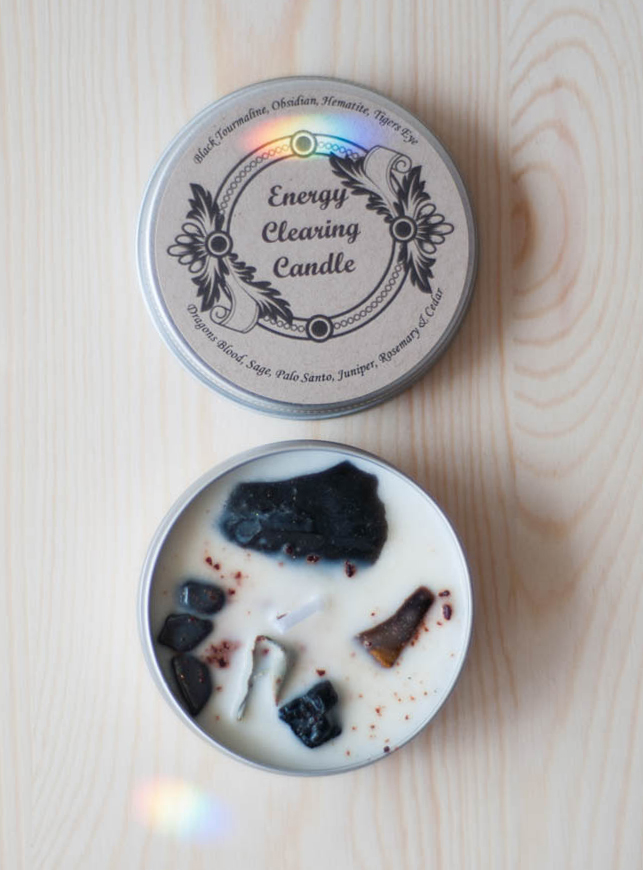 Energy Clearing Tin Travel Candle