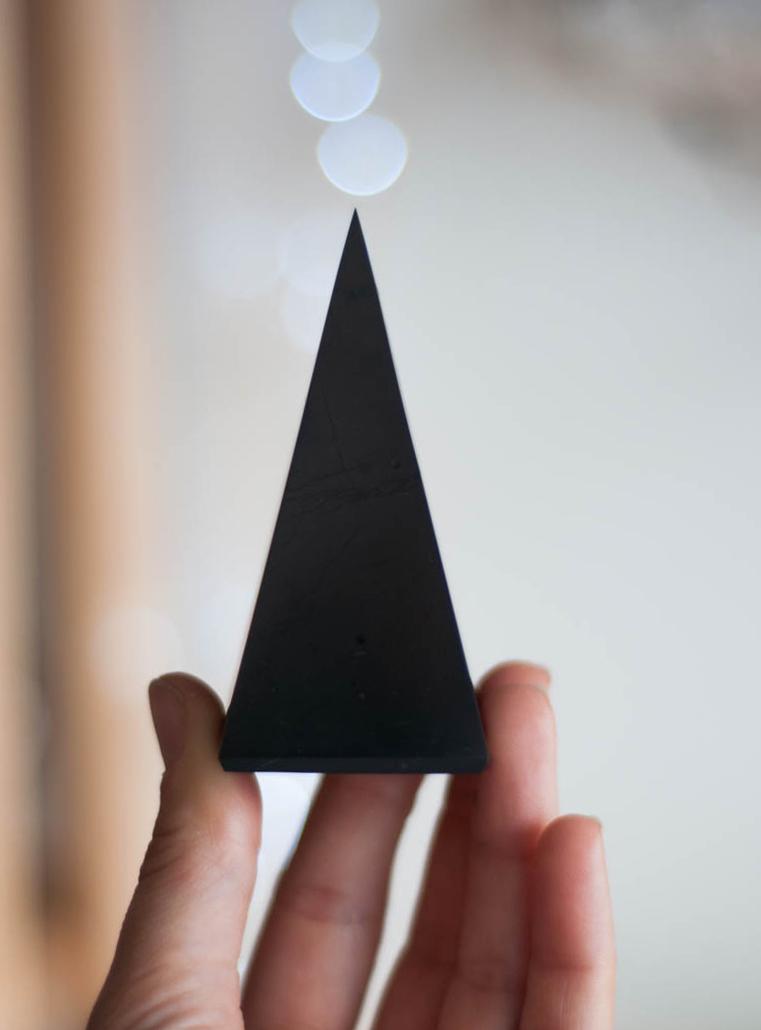 Shungite Tall Pyramid
