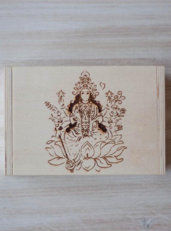 Lakshmi Hinged Wood Box
