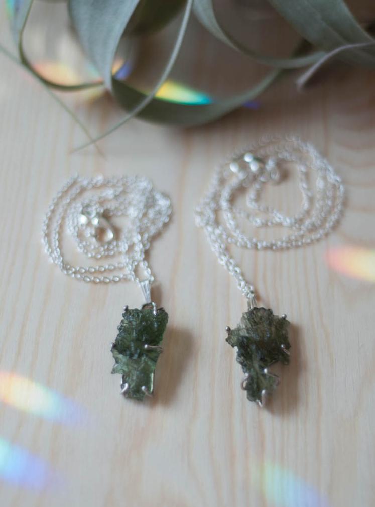 Moldavite Pendant Style #2