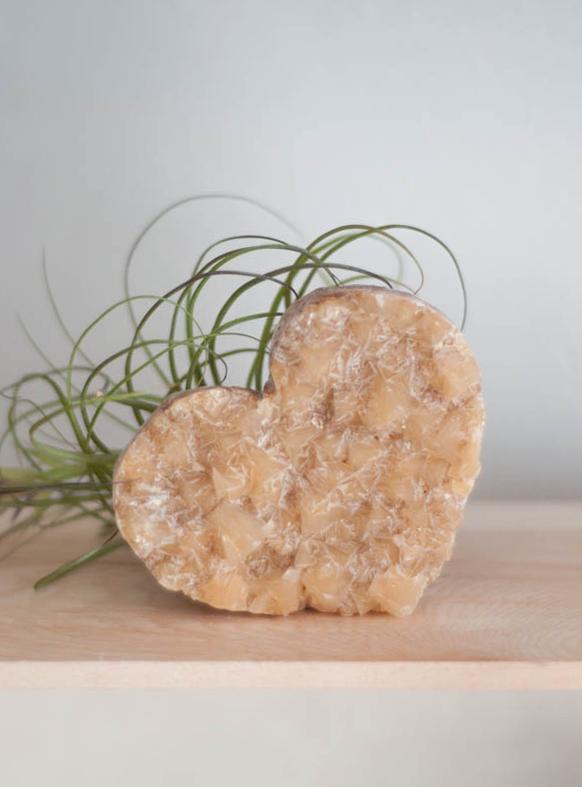 Honey Calcite Heart - medium