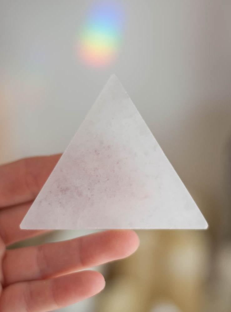 Selenite Flat Triangle