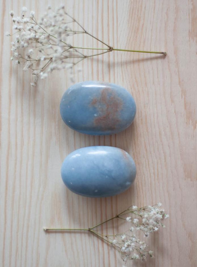 Angelite Palm Stone