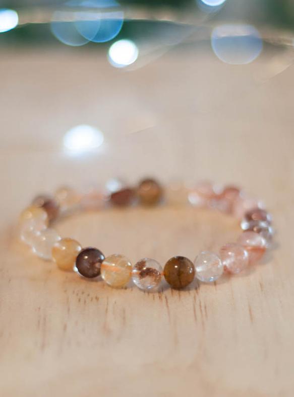 Golden Healer and Fire Quartz Bracelet