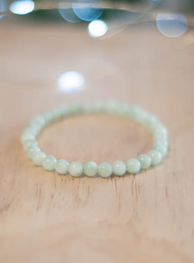 Green Moonstone Bracelet 6 mm