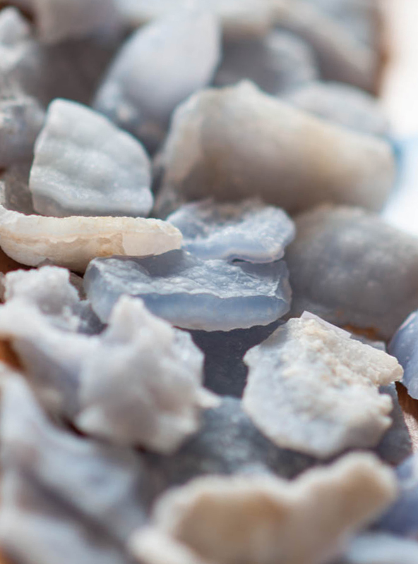 Raw Blue Lace Agate - small