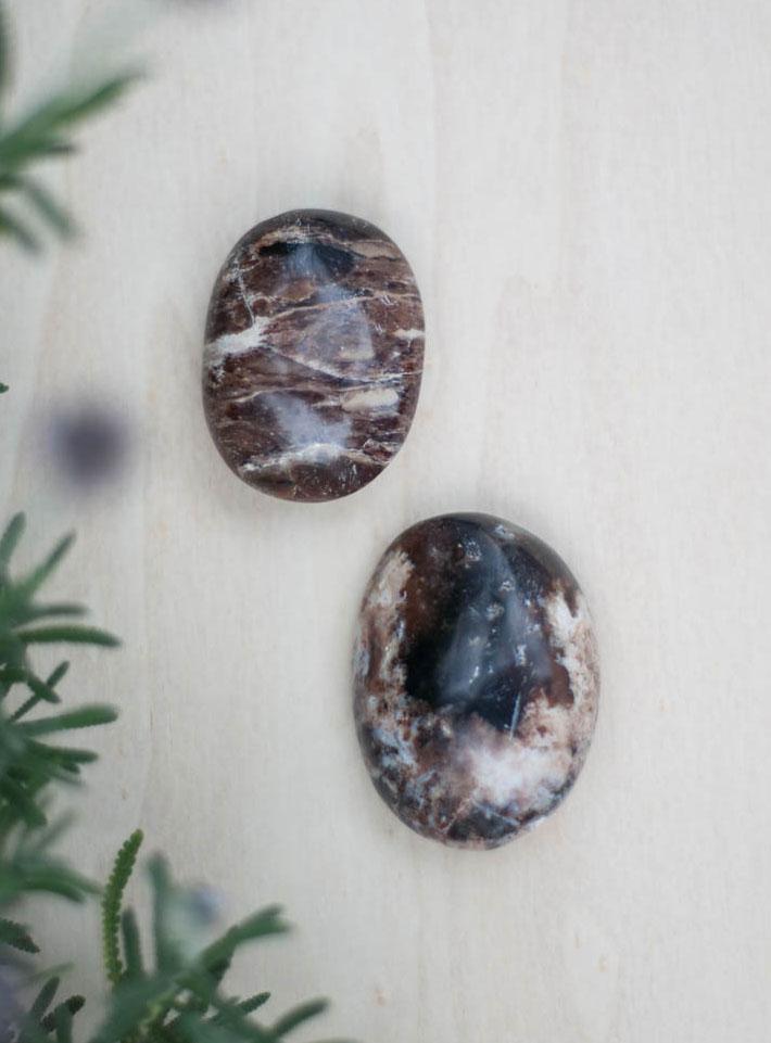 Black Opal Palm Stone