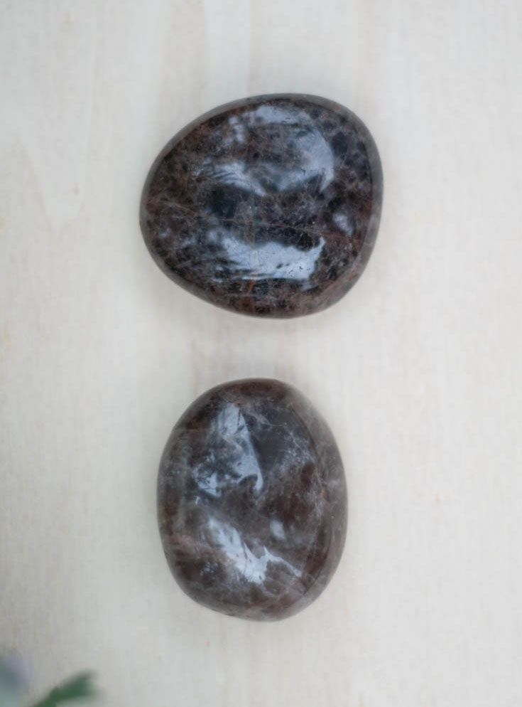Black Moonstone Palm Stone