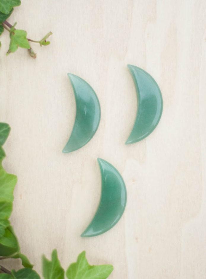 Green Aventurine Moon - small