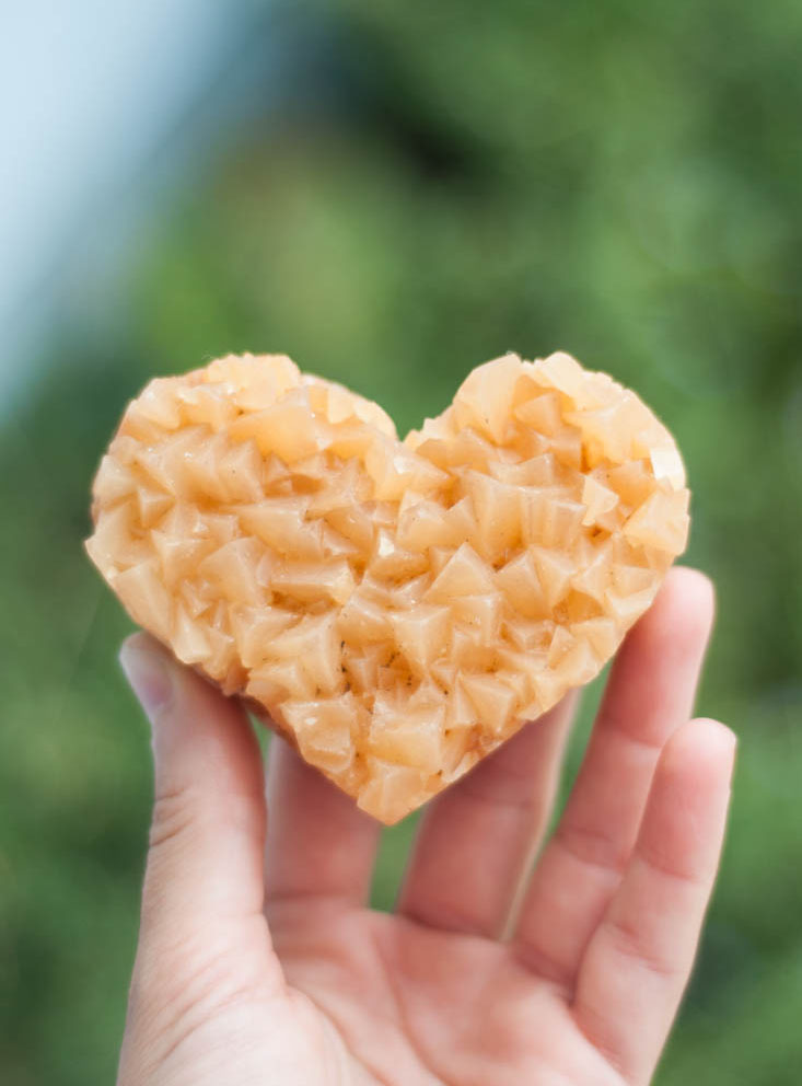 Honey Calcite Heart - large