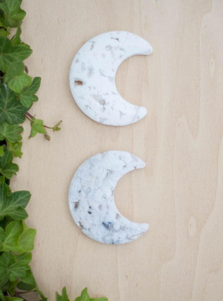 White Chalcedony Moon
