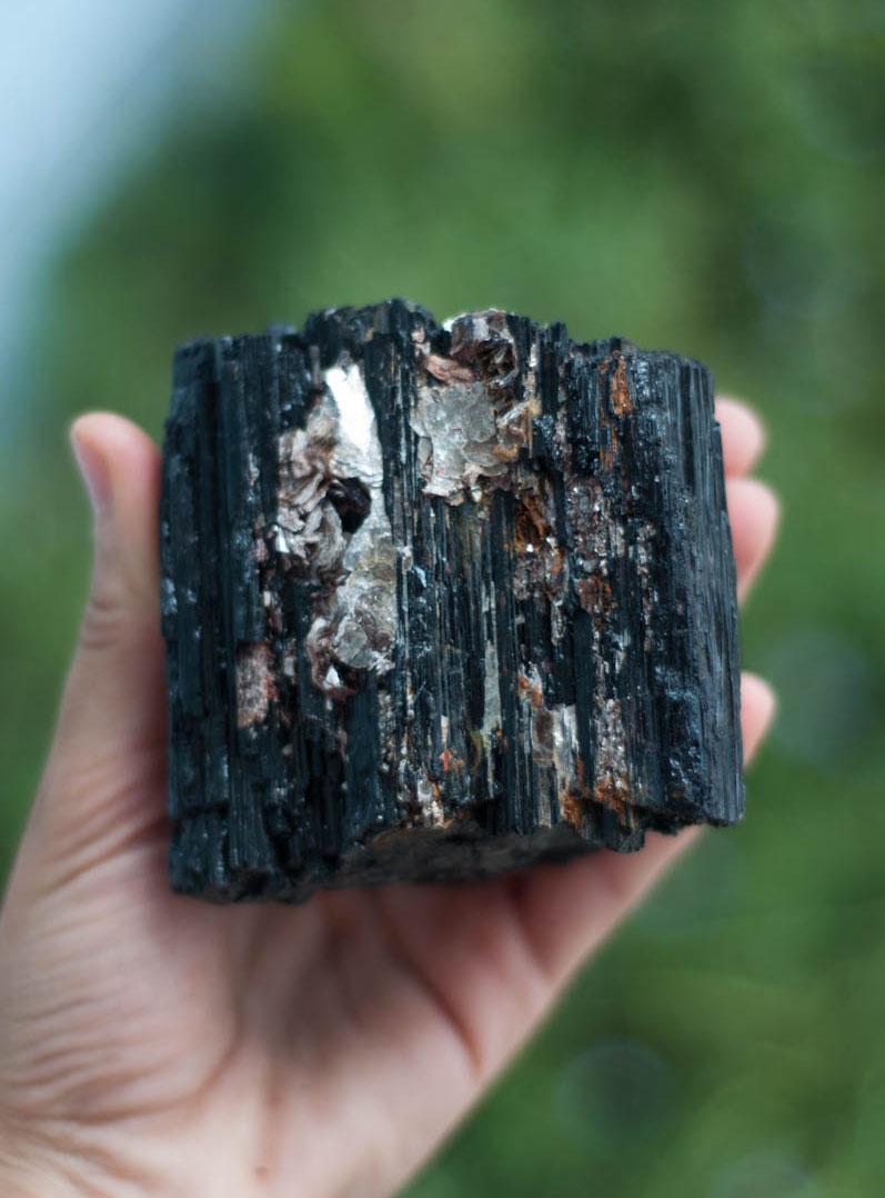 Raw Black Tourmaline - extra extra large