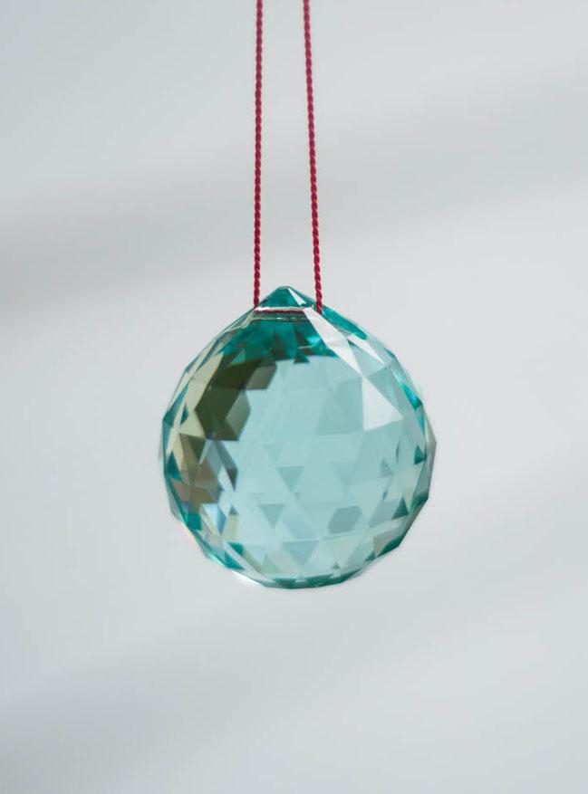 Swarovski Crystal 40mm Rainbow Maker Ball Teal