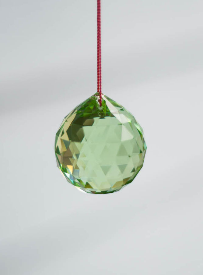 Swarovski Crystal 40mm Rainbow Maker Ball Light Green