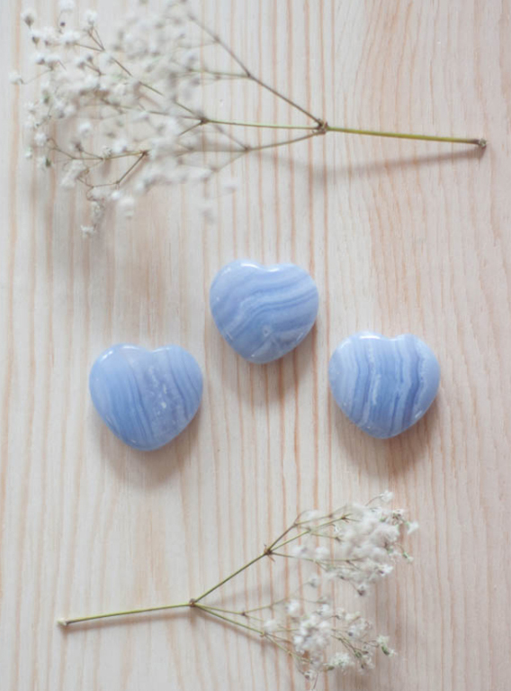 Blue Lace Agate Heart - small