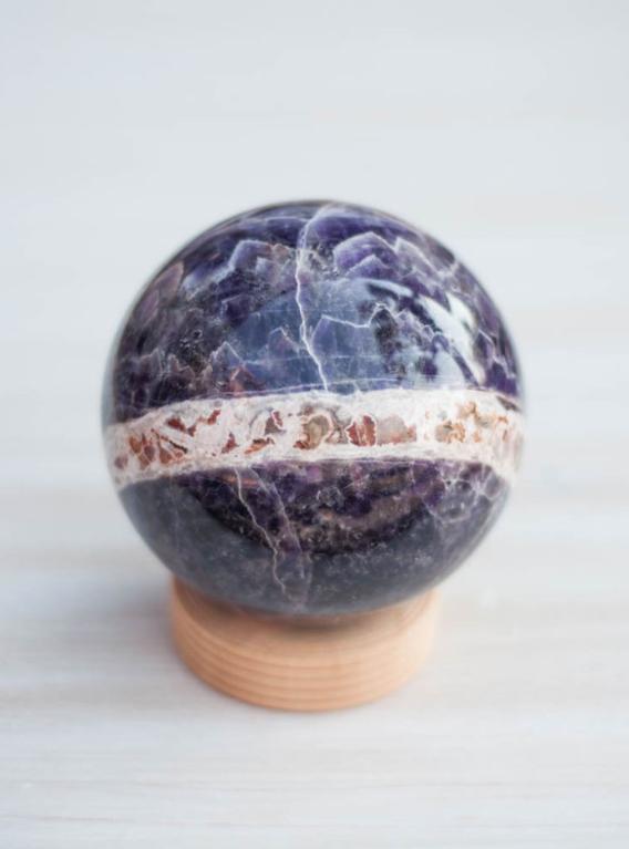 Chevron Amethyst Sphere #1