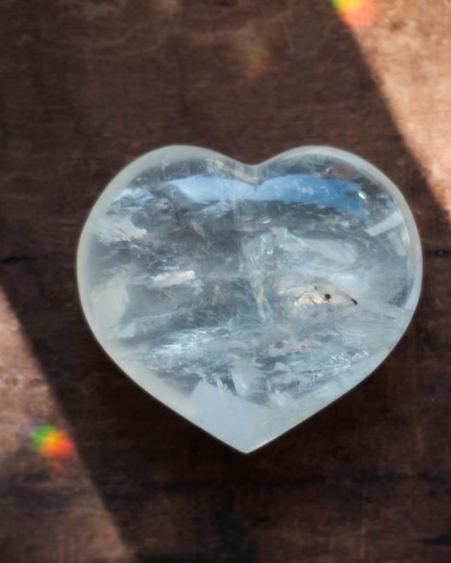 Clear Quartz Heart Crystal