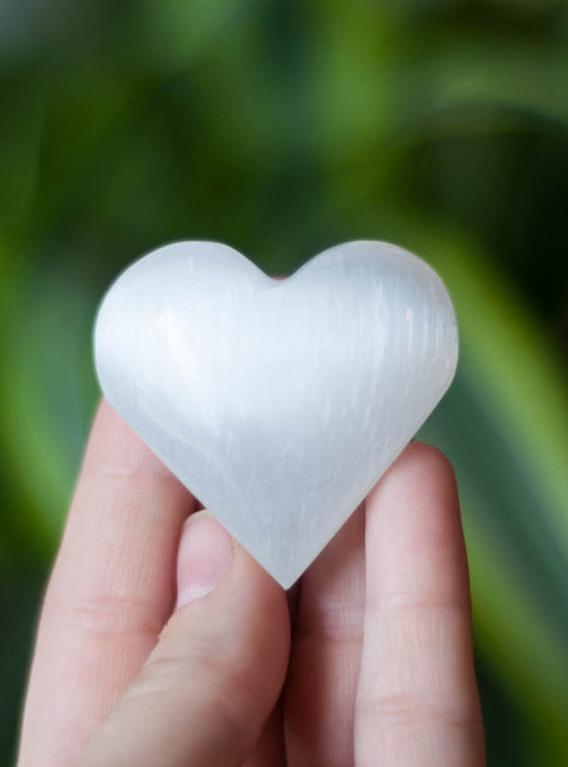 Mini Selenite Heart