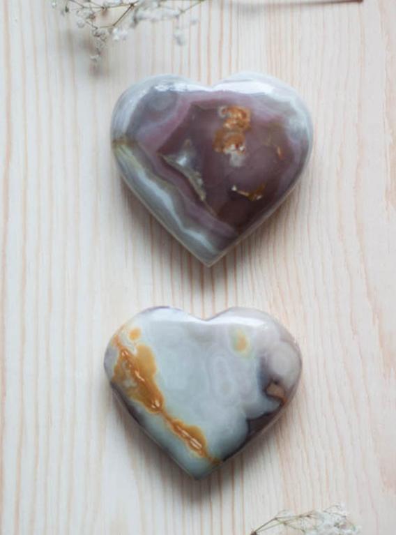 Purple Calcite Heart