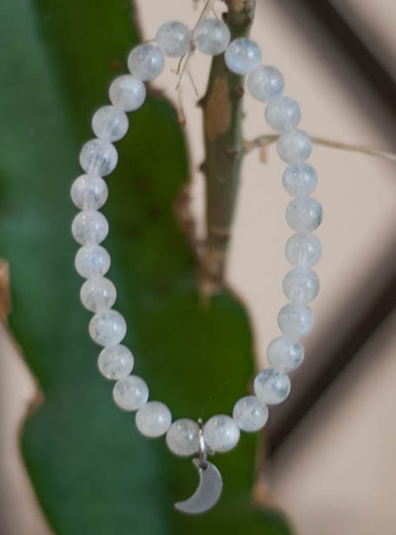 Rainbow moonstone 6mm Bracelet - only in petite and regular sizes