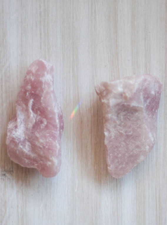 Raw Rose Quartz large