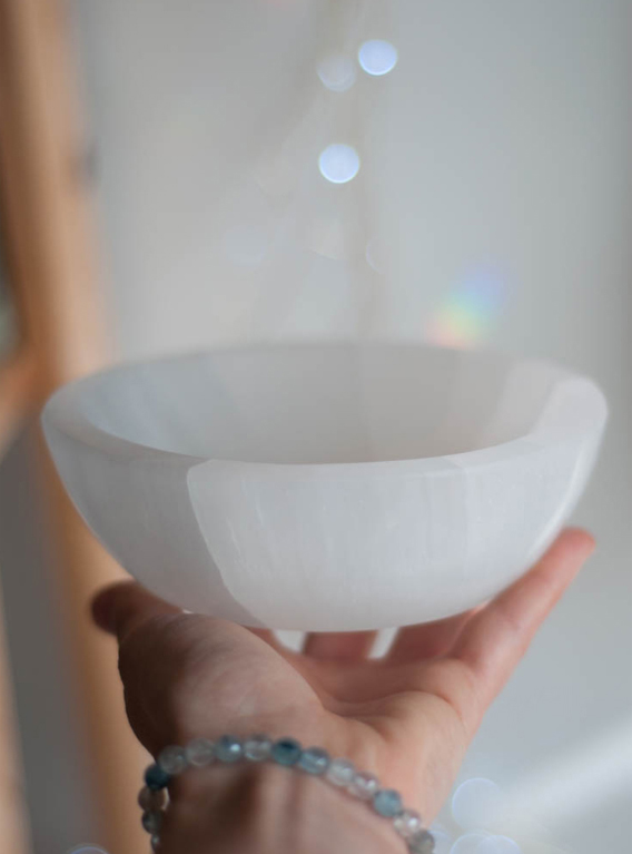 Selenite Bowl - large