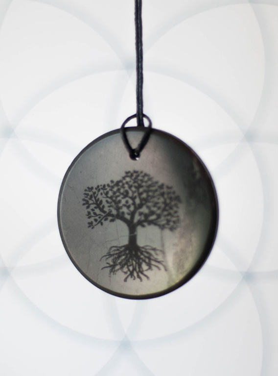 Shungite Tree of Life Pendant