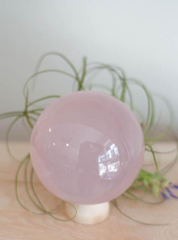 Star Rose Quartz Sphere #3