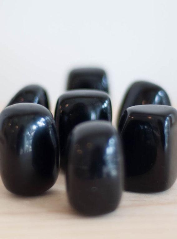 Tumbled Black Obsidian