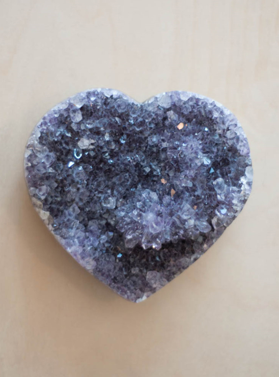 Uruguay Amethyst Geode Heart #9